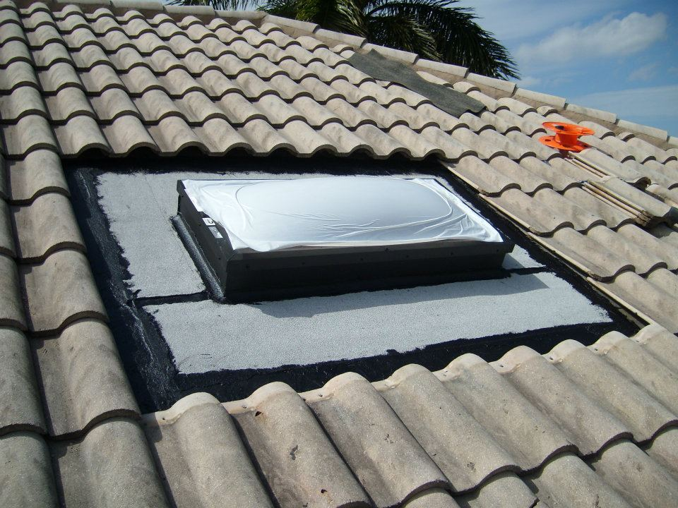 NEW Skylight, With Surrounding Material Replaced With New And Water Tight.